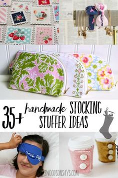 The best stocking stuffers you can sew! Handmade stocking stuffer tutorials for kids & adults - all FREE patterns that you can sew for Christmas gifts! Easy Sewing Projects, Sewing Projects For Beginners, Sewing Hacks, Sewing Tutorials, Sewing Tips, Sewing Ideas, Sewing Patterns Free, Free Sewing, Best Stocking Stuffers