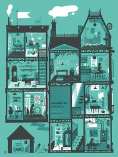 Building Illustration, House Illustration, Graphic Design Illustration, Digital Illustration, Poster On, Printmaking, Architecture, Crafts, Friends