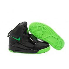 Nike Air Yeezy 2 Mens Shoes Black Green 318376 010