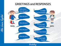 Learning about basic greetings and introductions English lesson
