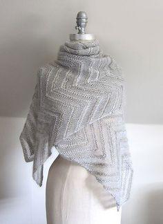 Ravelry: Chevron Cloud pattern by Espace Tricot Cloud Pattern, Wrap Pattern, Easy Knitting Patterns, Shawl Patterns, Knitting Yarn, Free Knitting, Hair Yarn, Yarn Brands, Knitting Accessories