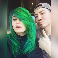 Green hair color (Guy Tang) @supermaryface