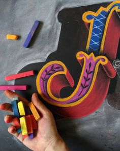 EnJOY the color 🤹 . #chalkartproject #chalkart #chalk #chalklettering #londondesigner #chalktypography #chalkdrawn #lettering…