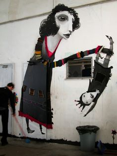 Latest volume of street art, urban art & wall murals from all over the world from many world street artists including INTI, Zilda, Aryz & Pablo S Herrero Urban Street Art, Best Street Art, Amazing Street Art, 3d Street Art, Street Art Graffiti, Street Artists, Urban Art, Murals Street Art, Art And Illustration