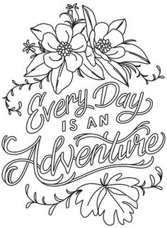 Warm Thoughts - Every Day is an Adventure | Urban Threads: Unique and Awesome Embroidery Designs