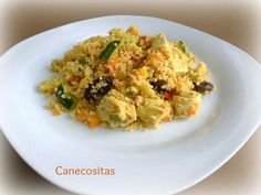Cuscus con pollo y verduras al curry 3 thermomix