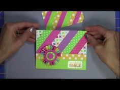 Video-Using scraps for the background of a card