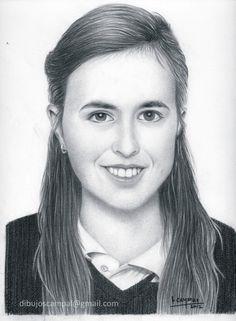 Alejandra. Colección retratos a lápiz. Año 2012