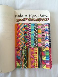 Wreck this journal - make a paper chain