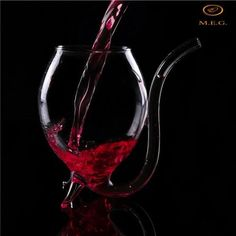 - Vampire Devil Clear Glass Juice Red Wine Cup Mug With Nozzle Gift & Garden Unique Wine Glasses, Stained Teeth, Wine Wednesday, Wine Parties, Wine Gifts, Wine Drinks, Red Wine, Mugs, Happy Wine