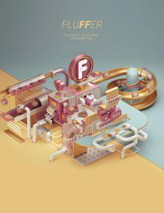 Fluffer Illustration. Peter Tarka + Six & Five Collaboration.