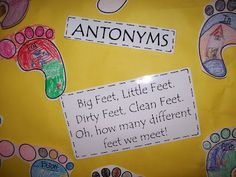 SO MANY GREAT SEUSS ACTIVITIES!!! Especially like this antonym activity using The Foot Book because I wouldn't have thought to use that book to teach antonyms. Mrs. Terhune's First Grade Site!: Dr. Seuss