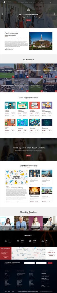 Omi is clean and modern design 12+ responsive multipurpose bootstrap HTML #template for #college and #university landing page website to live preview & download click on image or Visit