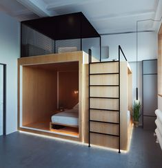 tiny house design in a small hut to inspire the design of your happiness Small Room Bedroom, Bedroom Decor, Small Bedrooms, Design Bedroom, Modern Bedroom, Small Apartments, Small Spaces, Tiny House Design, Dream Rooms