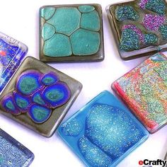 DIY to Try: Faux Dichroic Glass Tiles Made with Nail Polish