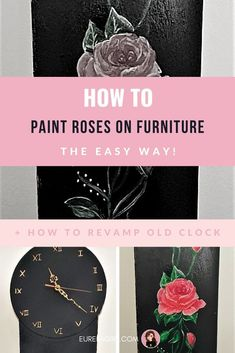 In this guide, I will break down the basics of drawing a rose the easy way! Paint roses on furniture and bring it to life in shabby chic or farmhouse style! #drawroses #paintroses #shabbychic #rosefurniture