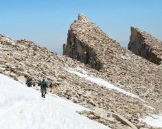 The Pacific Crest Trail runs along the remote western side of Mount Whitney