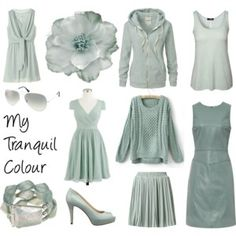 Polyvore  Farbschemata My Tranquil Colour