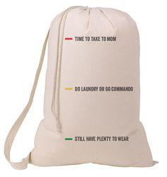 Status Whimsical Laundry Bag Humorous College Hamper Student Graduation