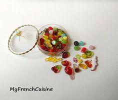 Les gourmandises - Selection bonbons Haribo  - Handmade miniature food