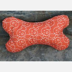 #designisneverdone  #onekingslane  for the dog bed  Bone Pillow Orange now featured on Fab.