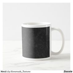 Shop Metal 1 coffee mug created by Homemade_Textures. Candy Jars, Diy Face Mask, Dog Design, Photo Mugs, Art For Kids, Color Schemes, Create Your Own, Coffee Mugs, Cool Designs