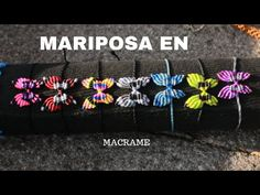 pulsera de mariposa con hilo encerado | TUTORIAL MACRAME BUTTERFLY - YouTube