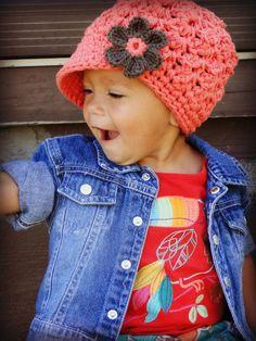 Crochet Baby Hat kids hat crochet newsboy hat by JuneBugBeanies (inspiration)
