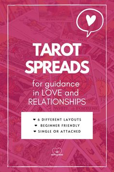 Looking for tarot spreads? Love consulting tarot cards for advice on your love life, whether you're in a relationship or single? Here are 6 tarot spreads that even tarot beginners can do for themselves. Whether you're new or advanced in tarot readings, spreads like these are perfect for reflecting on your love life, finding your soul mate, opening your heart chakra, and practicing self-love. #tarotspreads #tarotspreadsbeginners #tarotspreadslove #tarotreadingspreads #tarottips Relationship Tarot, Best Relationship Advice, Love Tarot Spread, Spread Love, Does He Love Me, Love Tarot Reading, Practicing Self Love, Tarot Card Meanings, Your Soul