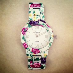 Spring Floral Geneva Watch