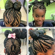 weave hairstyles for kids : little girls cornrows and curls hair styles jalicia hairstyles google ...