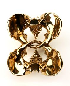 Wim Delvoye. Double Coccyx #1, 2009, 12.5 x 20.5 x 17.5 cm, Polished bronze