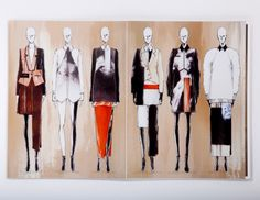 Fashion Sketchbook - fashion sketches; collection line up drawings