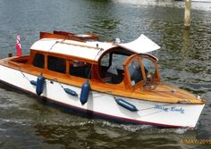 Modern launch seen on the Thames 2015