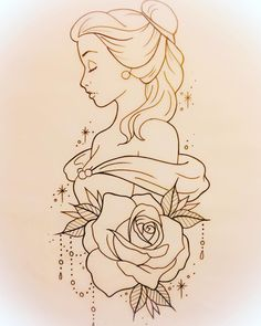 Available design! #belle #beautyandthebeast #beautyandthebeasttattoo #belletattoo #linedrawing #tattoodesign #tattooartist #ukladytattooist #ladytattooer #tattooist #girlytattoo #disneytattoo