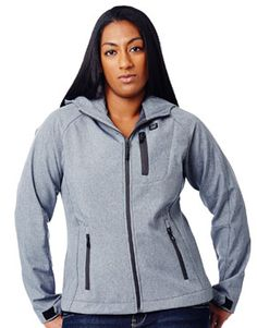 Our ladies printed hooded softshell jacket