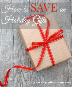 Afraid you won't be able to afford holiday gifts? Looking for smart money saving ides for the holidays. We can show you How to Save on Holiday Gifts. Tons of easy ideas that are budget friendly, but still generous in spirt. sunshineandhurricanes.com