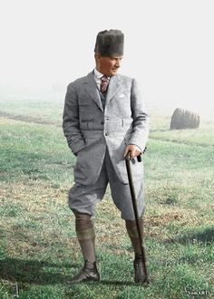 Mustafa Kemal (Atatürk). Ca. 1925.. Early-Republican urban fashion.