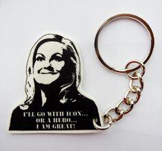 Leslie Knope Icon keychain by PeachyApricot   #AmyPoehler #hero #parksandrecs