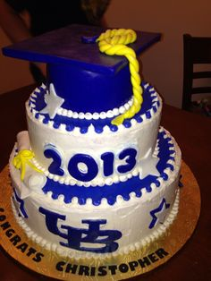 Christopher's college graduation cake; made by Victoria and Debbie