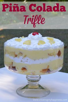 If you're looking for a light, delicious dessert for any occasion, look no further than this Piña Colada Trifle! Great to share with friends and family!