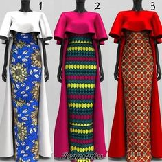 Ankara Maxi gown and the-Shoulder Dress 2018 - Reny styles