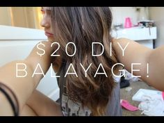 How To: EASY and CHEAP DIY Balayage!! - YouTube