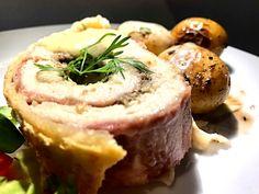 Kylling á la Wellington med sennepssauce og forårssalat - Madfilosofie