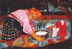 Peasant Women - Natalia Goncharova.