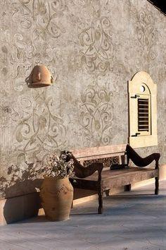 Papier peint baroque / aspect béton / pour extérieur SHADOWS by Christian Benini Wall&Deco