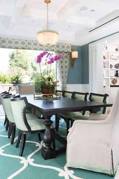Charmant ASD Interiors. Turquoise Dining Room