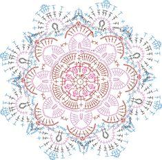 Hekel 'n Persiese rosetkombers - Her Crochet Crochet Doily Rug, Crochet Doily Diagram, Crochet Motif Patterns, Crochet Carpet, Crochet Symbols, Crochet Mandala Pattern, Crochet Quilt, Crochet Cross, Freeform Crochet