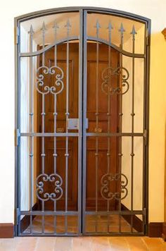 security gate example, good for over a historical Arab style wooden door or to keep the door open but home secure.