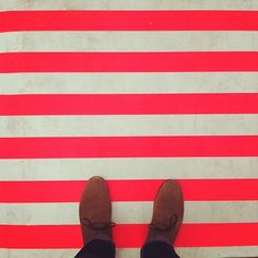 #yearofpattern neon stripes at the kate spade new york spring 12 preview. photo by time melideo